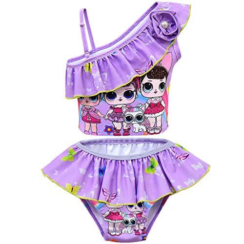 Lol surprise dolls Unicornio para niñas Traje de baño de dos piezasTankini niños Niñas