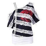 IMJONO Damen schwarz weiß Karierte Bluse blusen Tunika schöne damenblusen Baumwollbluse Hemd taillierte Gestreifte Hemdbluse Damenbluse Marken bügelfreie (EU-38/CN-S,Weiß)