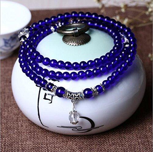 K&C 108 perline di cristallo polso Mala Mala bracciale rosari energia ametista 108 buddista preghier