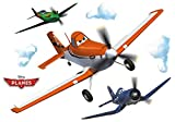 Komar - Disney - Deco-Sticker PLANES DUSTY - 100x70cm - Wandtattoo, Wandsticker, Wandaufkleber, Wandbild,  Flugzeug,  Segelflugzeug, Wolken - 14700h