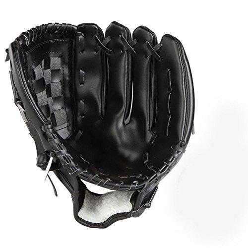 Innerhalb CHT Outdoor Baseball Baseball-Handschuh Leder Erwachsene / Juvenile Absatz Wilden Krug Handschuhe Softball Handschuhe Multicolor,Black-M (Baseball-handschuh Schwarze)