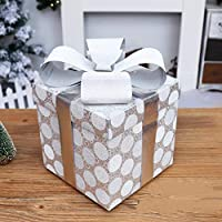 KYWBD Caja decoración,Ornamentos del árbol de Navidad-H