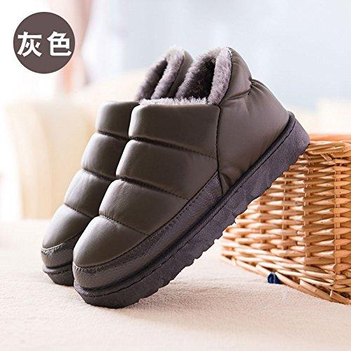 Inverno fankou borsa nera con cotone pantofole home home e al di fuori di uomini e donne giovane caldo - non slip di cotone impermeabile scarpe G