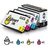 Smart Ink Kompatibel Druckerpatronen Tintenpatronen für HP 950XL 951XL 950 XL 951 4 Multipack (BK &C/M/Y) Patrone hoher Kapazität für Officejet 8100 8600 8610 8620 8630 8640 8660 8615 8625 251DW 276DW
