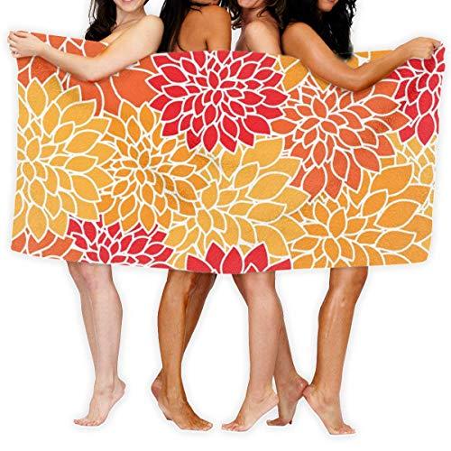 YUYUTE Strandtücher Für Frauen Männer Blanket Colorful Floral Summer Tropical Flower Bath Sheets Lovely 100% Polyester Swim Large Towel Cover for Yoga Mat Tent Floor 31.5