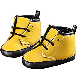 abdc kids Party Wear Yellow Boots (12-18 MONTHS)