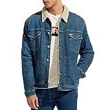 Wrangler Giubbino Giacca Jeans Uomo W4232125B-SHERPA JACKET GREEN