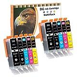 D&C 10er Set (B/PB/C/M/Y) Druckerpatronen PGI CLI 550/551 Ersetzt für Canon Pixma iP7200, iP7250, iP8750, iX6850 MG5450 MG5550 MG5650 MG5655 MG6350 MG6450 MG6650 MG7100 MG7150 MG7550 MX725 MX925