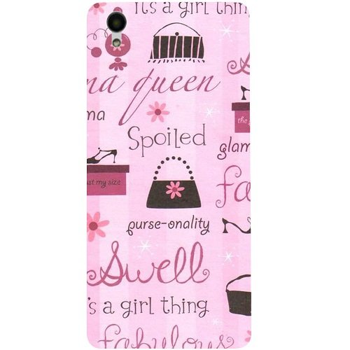 Casotec Its A Girl Thing Design 3D Hard Back Case Cover for Vivo Y51L