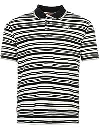 Slazenger Interlock Yarn Dye Polo pour homme Bleu marine/blanc Top T-shirt Tee