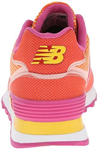 New Balance Women's WL574 Woven Collection Running Shoe Orange/Yellow