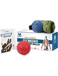 Doble juego de pelota con pinchos y pelota de lacrosse para liberación miofascial, movilidad y terapia física masaje Bolas (Set de 3)
