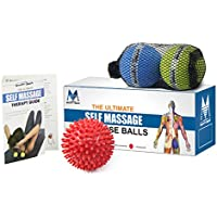 Texture Lacrosse Palloni e sfera del punto fissato per Release miofasciale Mobilità & Fisioterapia massaggio Sfere con Carry Case (pacchetto di 3)