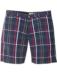 Gant Rugger Hommes Shorts Bleu foncé/Rouge/Blanc R.1. Poplin Check Shorts 21083-422