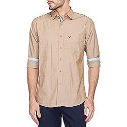 Allen Solly Mens Casual Shirt (AMSF517G02051_Beige_40)