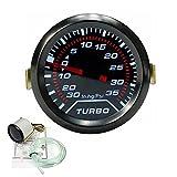 "Universal Car Turbo Boost Pressure Gauge 0-35 Psi Meter Smoked Dials 2"" 52mm Blue LED"