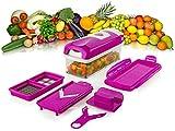Genius Nicer Dicer Plus Kompakt Set , 7-tlg. Gemüse- Obst- Multi-Schneider NEU, Farbe:lila