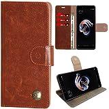 Zaoma Diary Wallet Type Pu Leather Flip Case Cover For Xiaomi Mi Redmi Note 5 Pro - Leatherette Tan