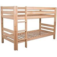 Preisvergleich für Betten-ABC Bubema Maja Kinder Etagenbett/Hochbett, Buche massiv, mit oder ohne Rutsche, Grösse Ohne Rutsche - Härtegrad Natur geölt