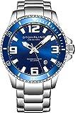 Stührling Original 395.33U16 - Reloj analógico para Hombre, Correa de Acero...