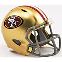SAN FRANCISCO 49ERS NFL Riddell Speed POCKET PRO MICRO / POCKET-SIZE / MINI Football Helmet