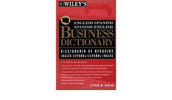 Buy Wileys English Spanish Spanish English Business