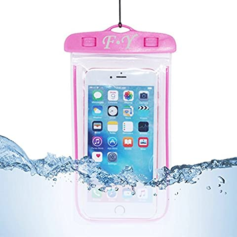[2017 Upgraded Design]F-Y Universal Waterproof Case,Dry Bag/ Pouch,Clear Sensitive PVC Touch Screen,Waterproof bag for mobile phone for iPhone 7/7s/6/6S Plus/5/5s/5c Galaxy S7 Edge/S6/S5/S4 Note 4/3 LG G5/G3 Up To 5.5