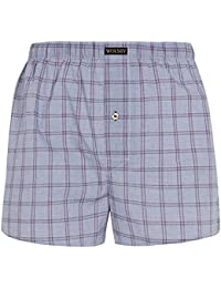 Mens Wolsey 2 Pack Hudson Cotton Vintage Woven Boxer Shorts Underwear