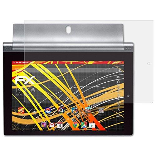 atFolix Schutzfolie kompatibel mit Lenovo Yoga Tablet 2-10 Bildschirmschutzfolie, HD-Entspiegelung FX Folie (2X)