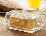Kilner Glass Storage Serving Cheese or Butter Dish With Lid