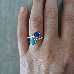 Mood ring - bague d'humeur SILVER TWINS