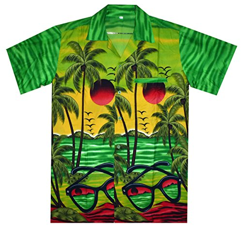 Funky Hawaiihemd, Sunglasses, grün, S