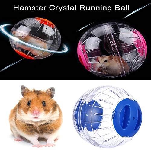 Womdee Hamster läuft, Mini Hamster Exercise Ball, Hamster Laufball Übungs Ball Rolle Kugel Laufkugel Joggingball Kleintiere Spielzeug