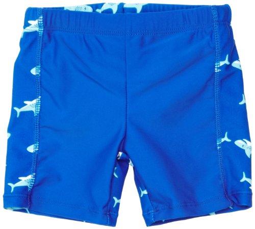 Playshoes Jungen Badeshort 460125 Badehose, Badeshorts Hai mit höchstem UV-Schutz nach Standard 801 und Oeko-Tex Standard 100, Gr. 110/116, Blau (original) (Teen Boys Badehose)