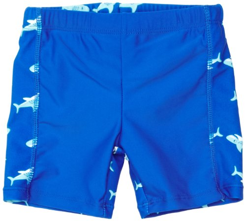 Playshoes Jungen UV-Schutz Shorts Hai Badehose, Blau (Original), 110/116
