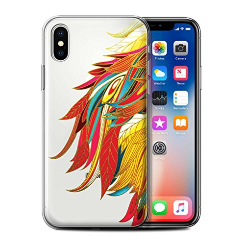 Stuff4 Gel TPU Hülle / Case für Apple iPhone X/10 / Pack 15pcs / Sass/Frech Kollektion Flamboyant Feuervogel