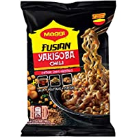 Maggi Fusian Yakisoba Noodles Chili - Fideos Orientales - Paquete de 8x120g - Total: 960 g