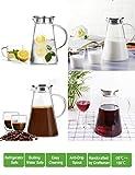 2.0 Liter 70 Unzen Glas Krug karaffe mit Deckel Eistee Krug Wasserkrug Heißes Kaltes Wasser Eistee Wein Kaffee Milch und Saft Getränkekaraffe wasserkaraffe - 8