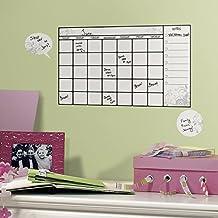 Jomoval RoomMates - Adhesivos murales reutilizables para habitación infantil, diseño de calendario con rotulador borrable