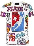 Philipp Plein Herren Mtk0176pjy002n01 Weiss Baumwolle T-Shirt