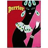 Editions Clouet 50526 - Affiche publicitaire 50x70 cm Perrier - Noire