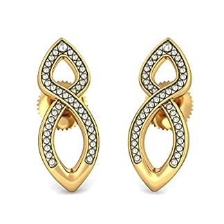 BlueStone 22k (916) Yellow Gold Rebha Stud Earrings