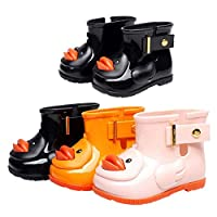 Deylaying Kids Baby Girls Cute Jelly Waterproof Rain Boots Children Non-Slip Rubber Princess Shoes Ankle Boots Snow Boots Water Shoes