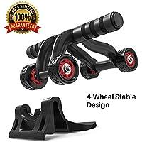5a693df44e8482 Roue Abdominaux AB Wheel Roller de Fitness Musculation Appareil Abdos-Tapis  Epais pour Genou,