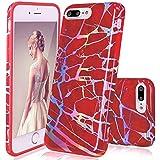 GopeE IPhone 7 Plus Case,iPhone 8 Plus Case, Marble Design Clear Bumper TPU Soft Case Rubber Silicone Skin Cover For IPhone 7 Plus (2016)/iPhone 8 Plus (2017) - B07H1K4KQM
