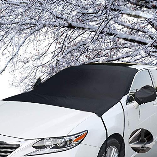 TOPWINRR Protezione Parabrezza Anteriore Auto Magnetico con Copertura Specchietto Laterale Antighiaccio Anti Neve UV Gelo Brina Parasole Protettore 205 * 150cm cm per Auto SUV Truck