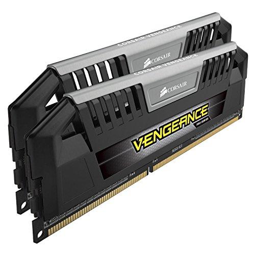 Corsair CMY16GX3M2A1600C9 Vengeance Pro Series 16GB (2x8GB) DDR3 1600Mhz CL9 XMP Performance Desktop Memory Schwarz -