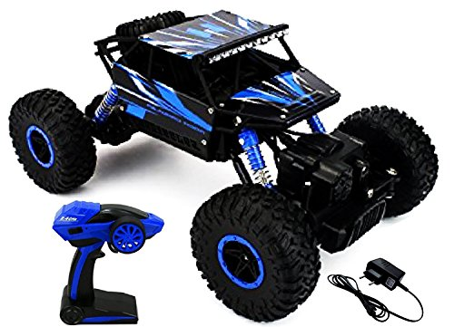 Webby 1:18 Scale Remote Controlled Rock Crawler Monster Truck, Red
