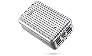 Quick Charge 3.0 Portable Charger, Zendure A8 QC External Battery Back 26800mAh with Qualcomm QC 3.0, Super High Capacity Power Bank with LED Display,4 USB Ports for Samsung, iPhone etc. (Silver)