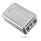 Zendure A8 Caricabatterie Portatile 26800mAh 5 Porte USB Power Bank Batteria Esterna con Display a LED e Digitale Ricarica Rapida 3.0 Qualcomm per iPad, iPhone, Samsung, Huawei, e Altri (Argento)
